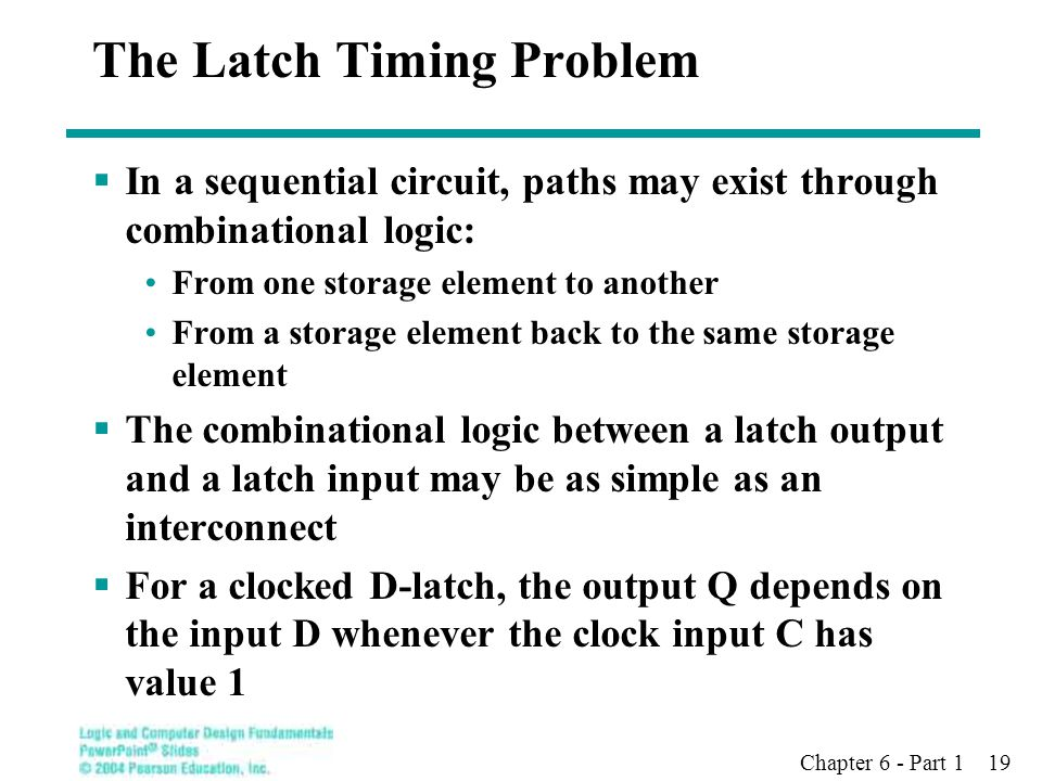 The Latch Timing Problem