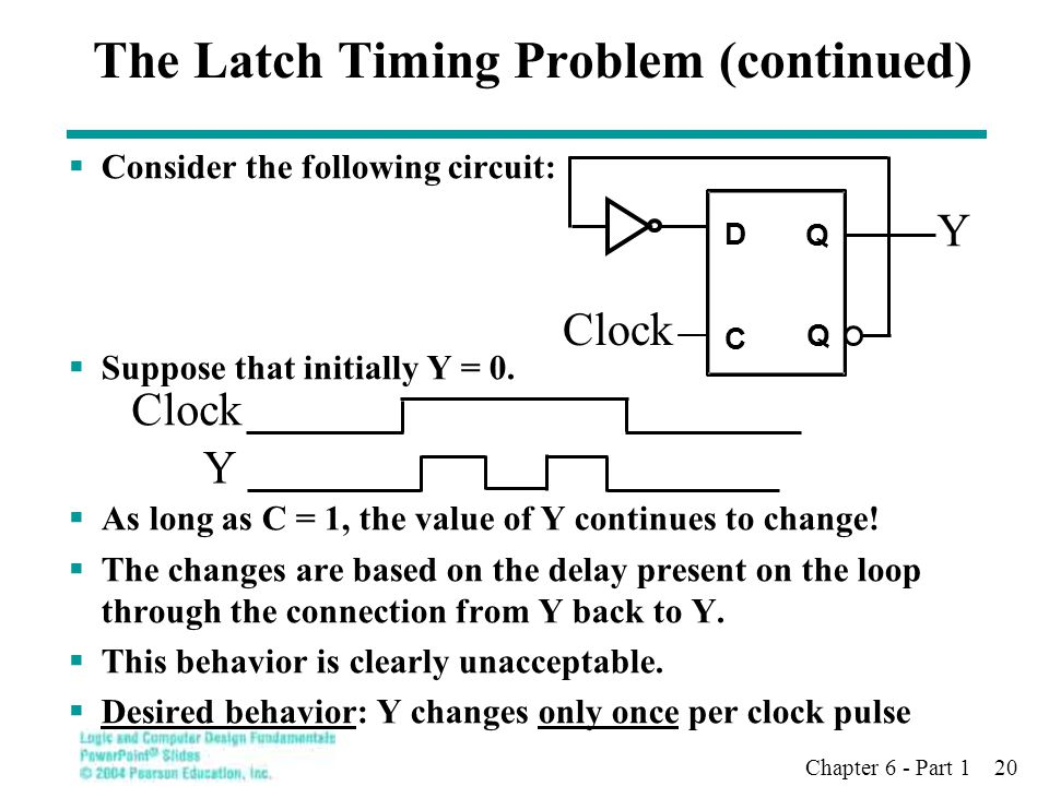 The Latch Timing Problem (continued)