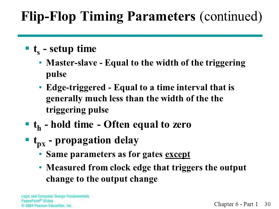 Flip-Flop Timing Parameters (continued)