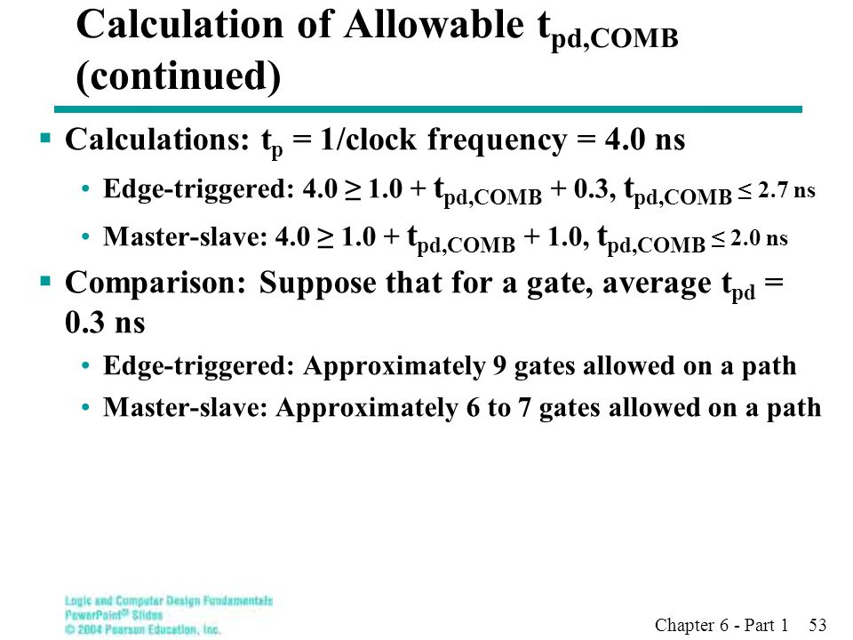Calculation of Allowable tpd,COMB (continued)