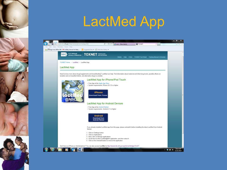 LactMed App
