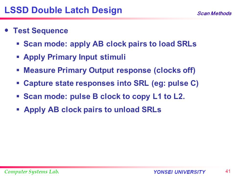 LSSD Double Latch Design