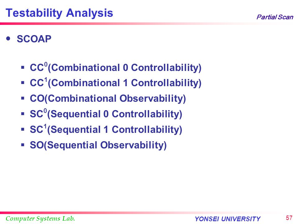 Testability Analysis SCOAP CC0(Combinational 0 Controllability)