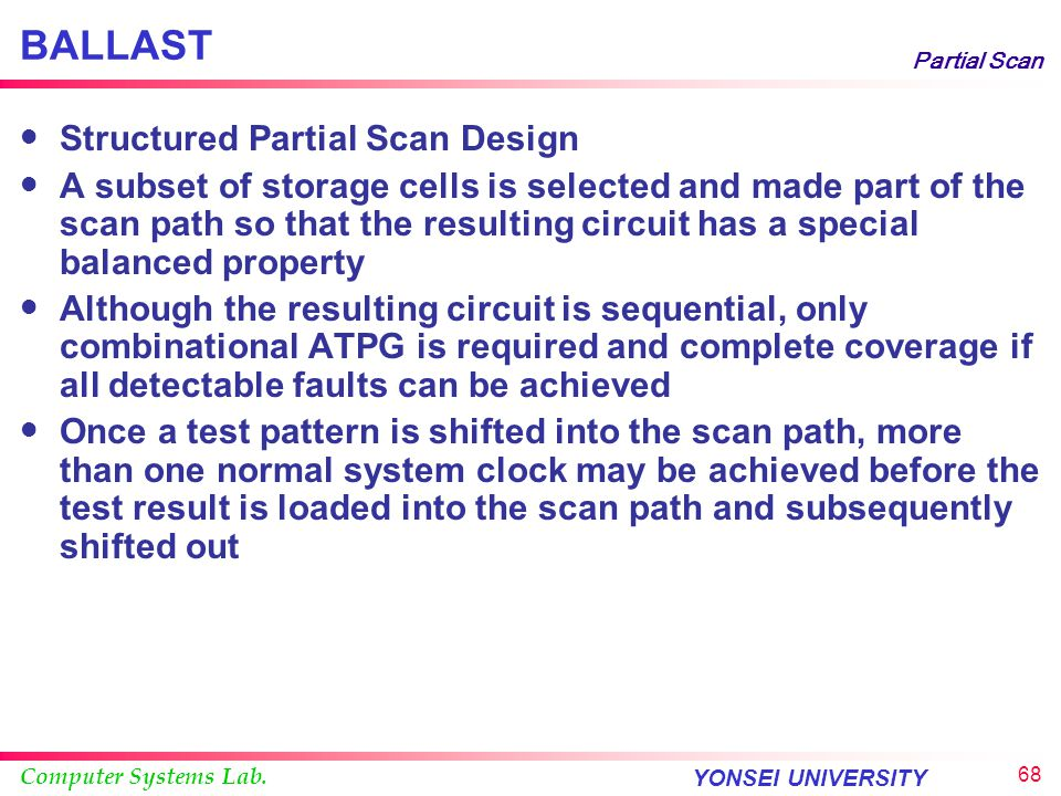 BALLAST Structured Partial Scan Design