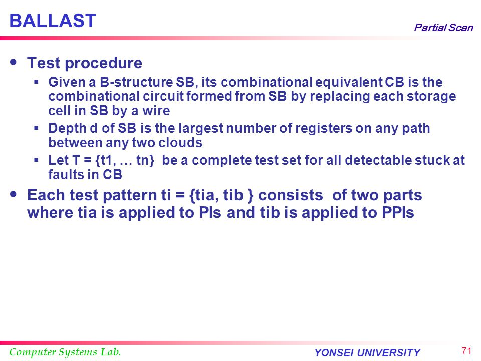 BALLAST Test procedure