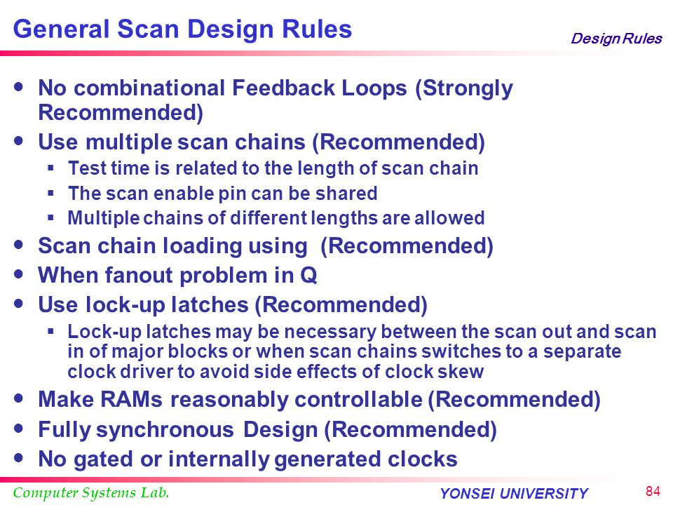 General Scan Design Rules