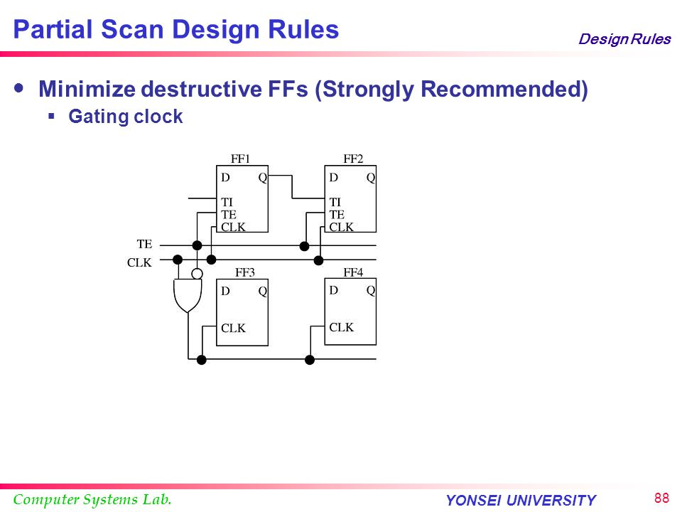 Partial Scan Design Rules