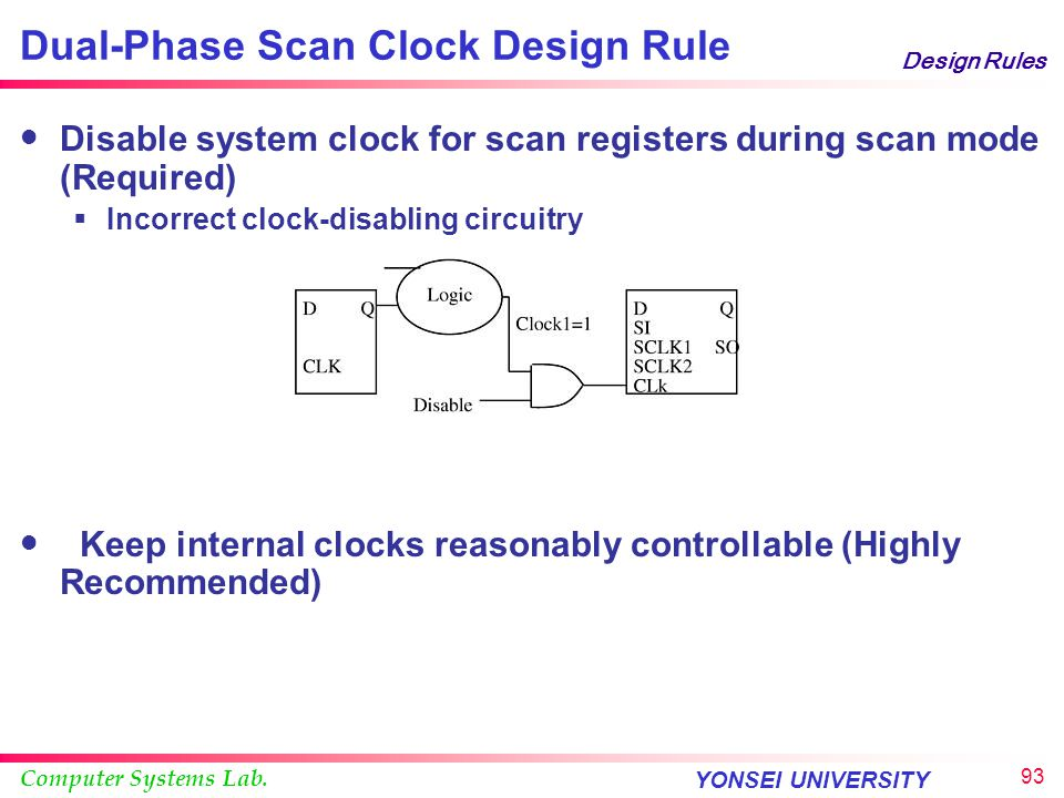 Dual-Phase Scan Clock Design Rule