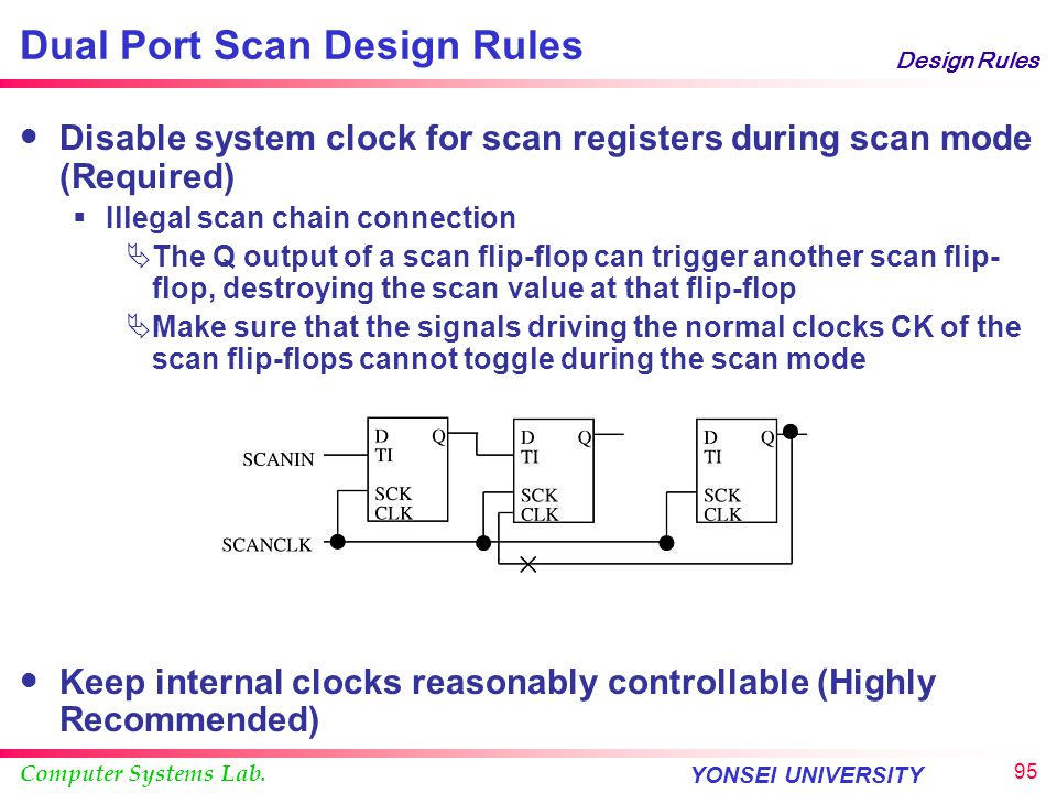 Dual Port Scan Design Rules