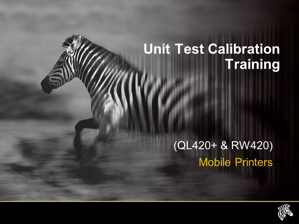 Unit Test Calibration Training
