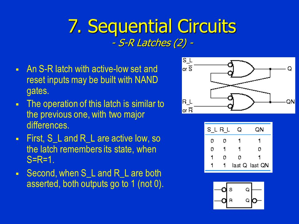 7. Sequential Circuits - S-R Latches (2) -