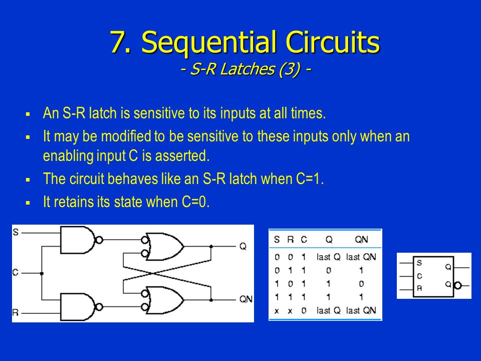 7. Sequential Circuits - S-R Latches (3) -