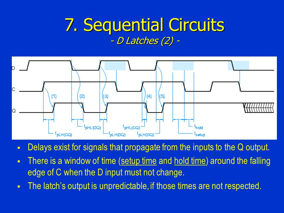 7. Sequential Circuits - D Latches (2) -
