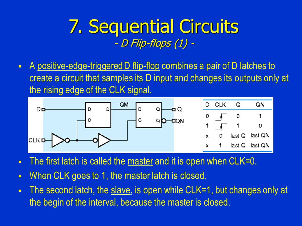 7. Sequential Circuits - D Flip-flops (1) -