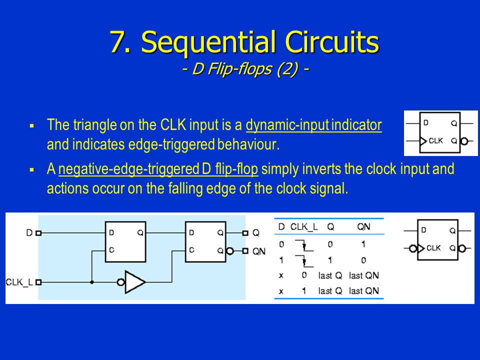 7. Sequential Circuits - D Flip-flops (2) -