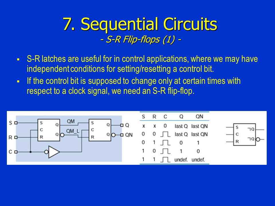 7. Sequential Circuits - S-R Flip-flops (1) -