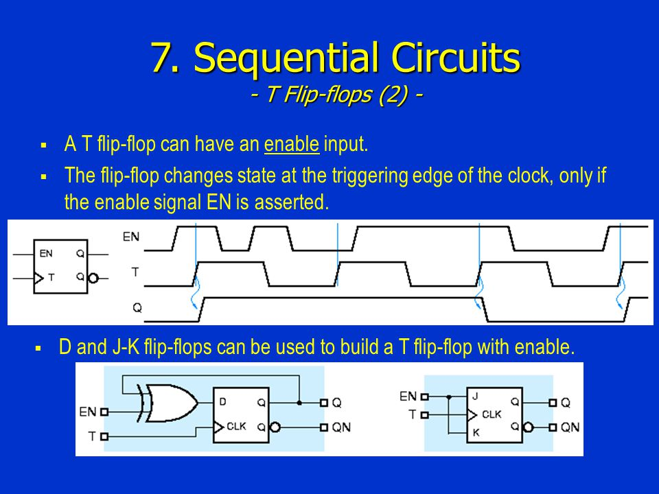 7. Sequential Circuits - T Flip-flops (2) -