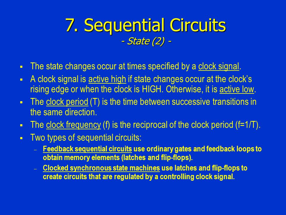 7. Sequential Circuits - State (2) -