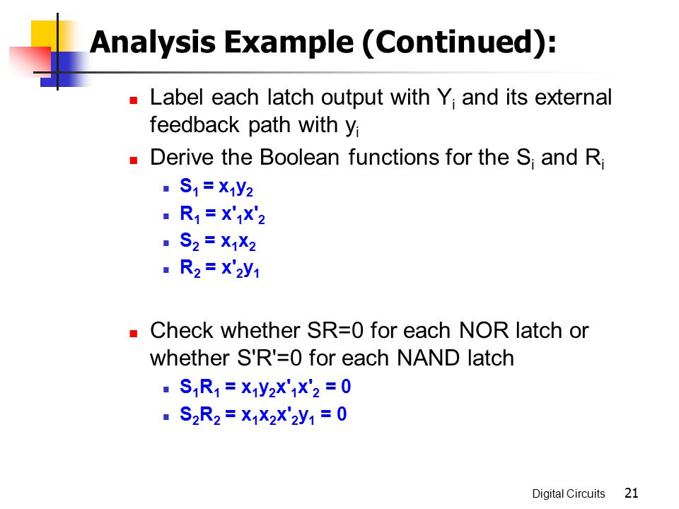 Analysis Example (Continued):
