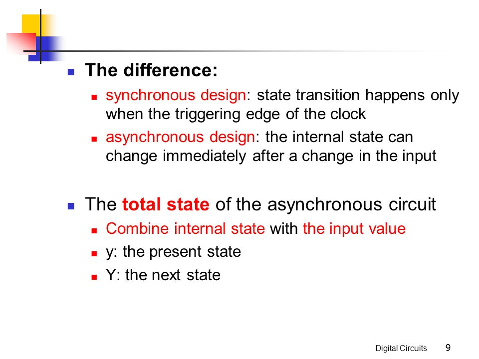 The total state of the asynchronous circuit