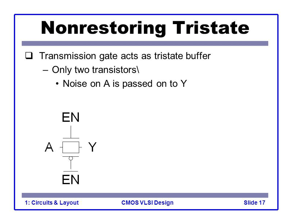Nonrestoring Tristate