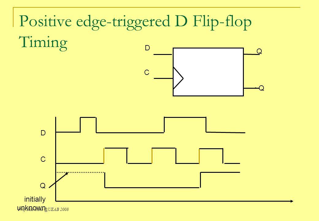Positive edge-triggered D Flip-flop Timing