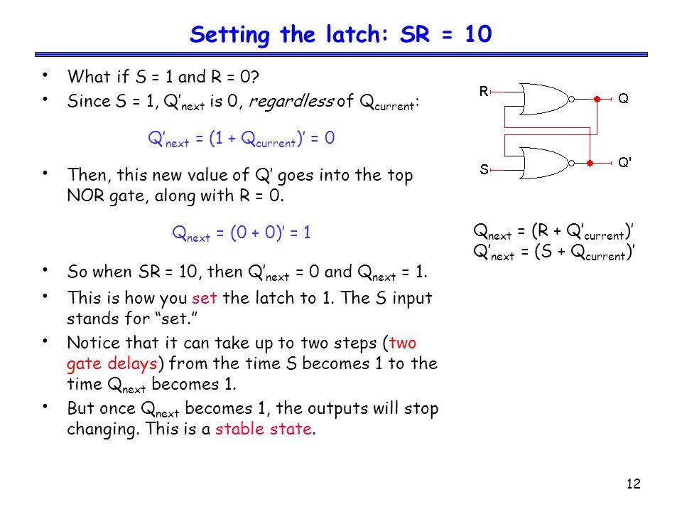 Q'next = (1 + Qcurrent)' = 0