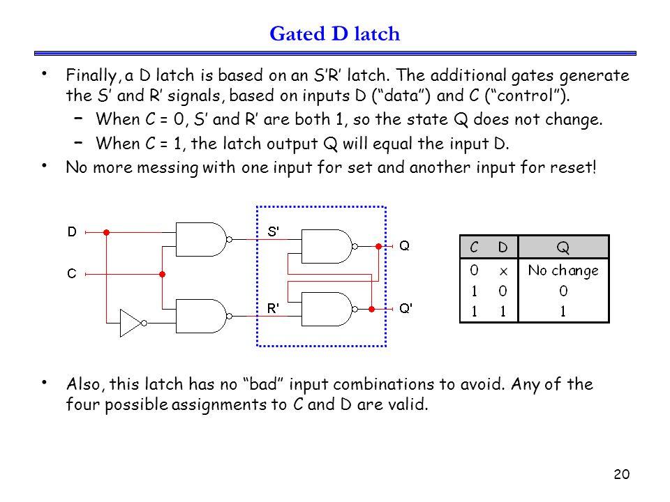 Gated D latch