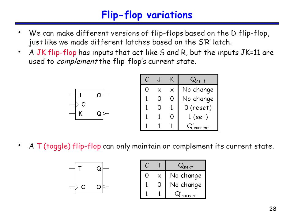 Flip-flop variations
