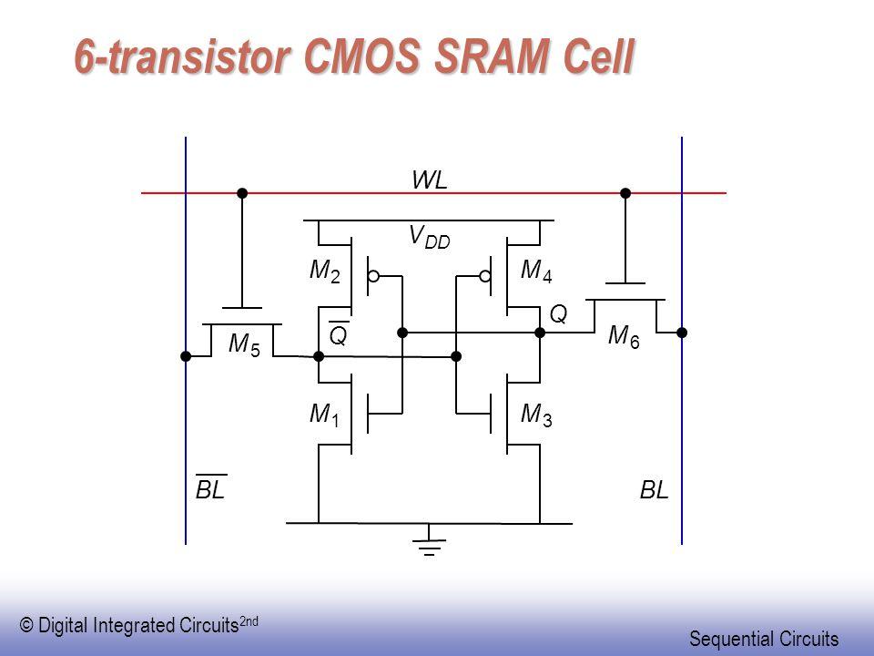 6-transistor CMOS SRAM Cell