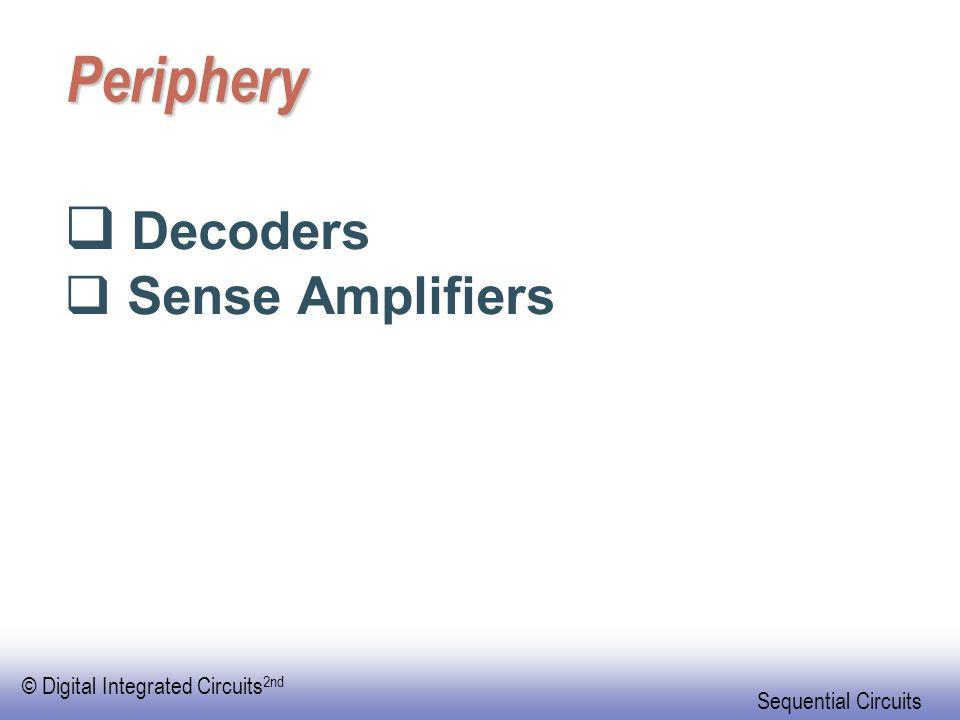 Periphery Decoders Sense Amplifiers
