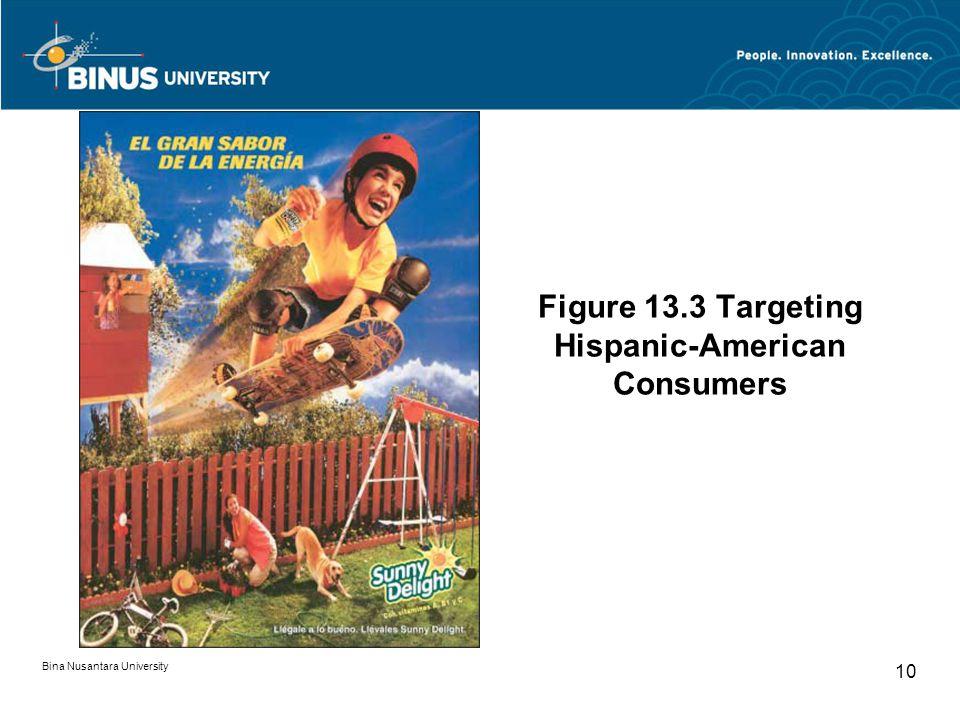 Figure 13.3 Targeting Hispanic-American Consumers