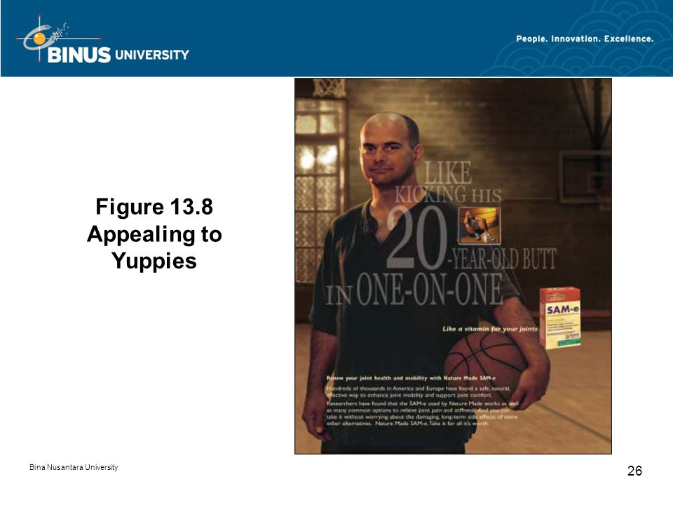 Figure 13.8 Appealing to Yuppies