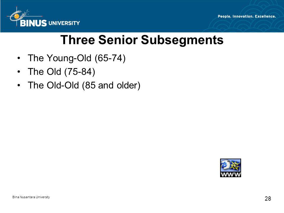 Three Senior Subsegments