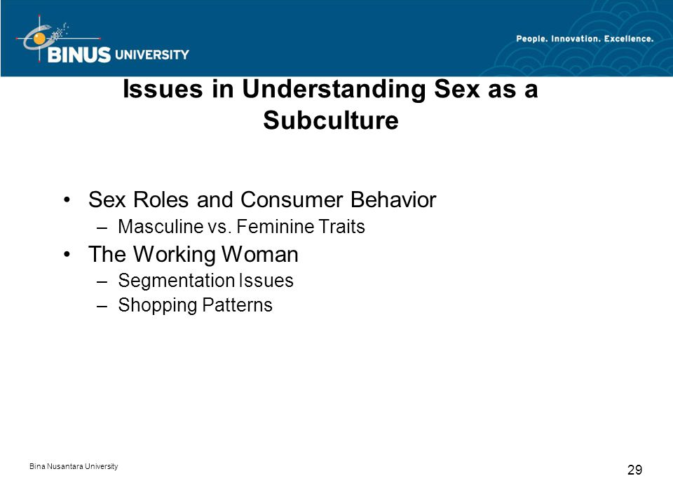 Issues in Understanding Sex as a Subculture