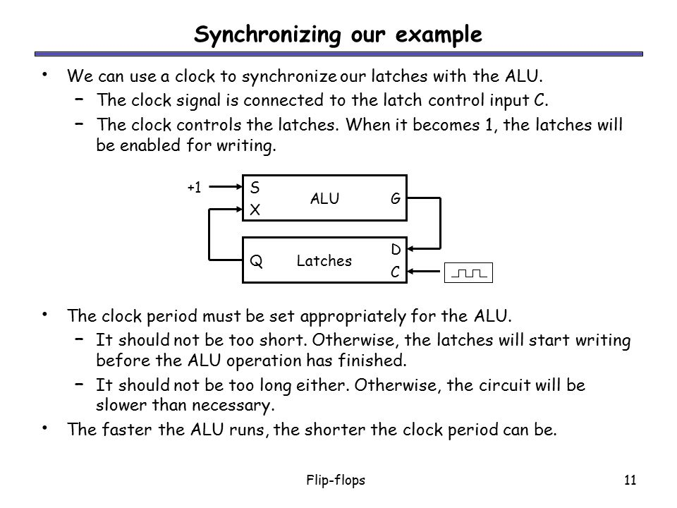 Synchronizing our example