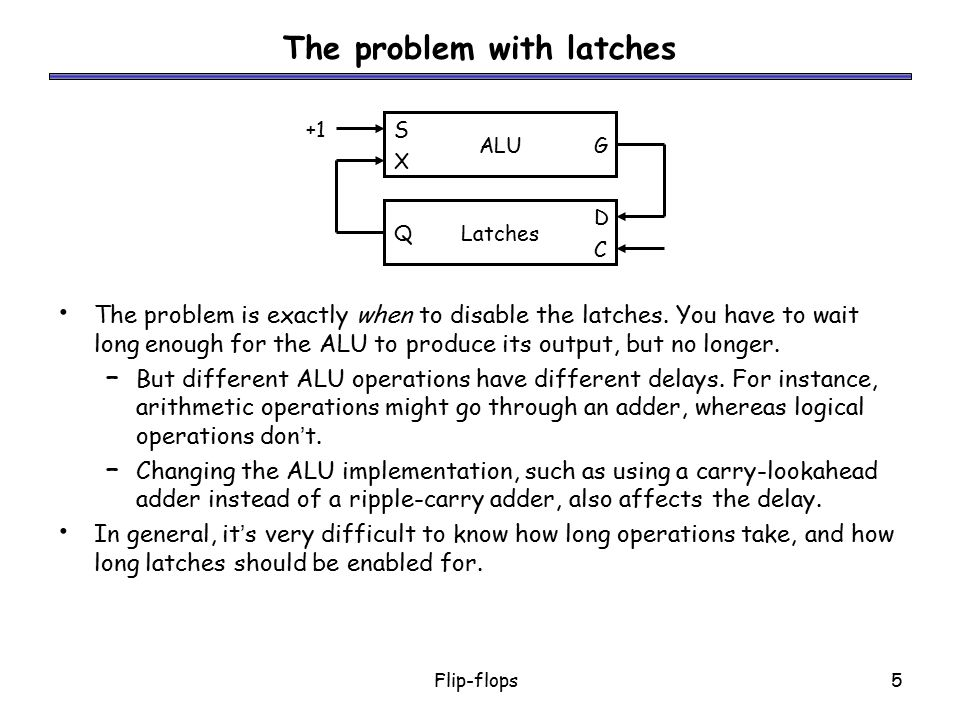 The problem with latches
