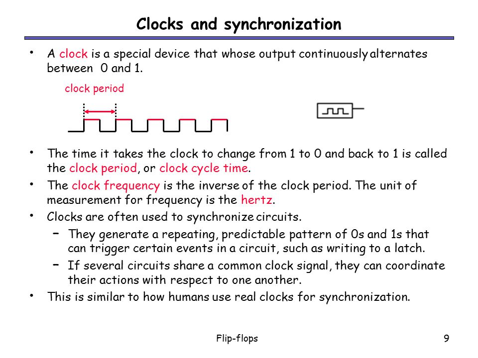Clocks and synchronization