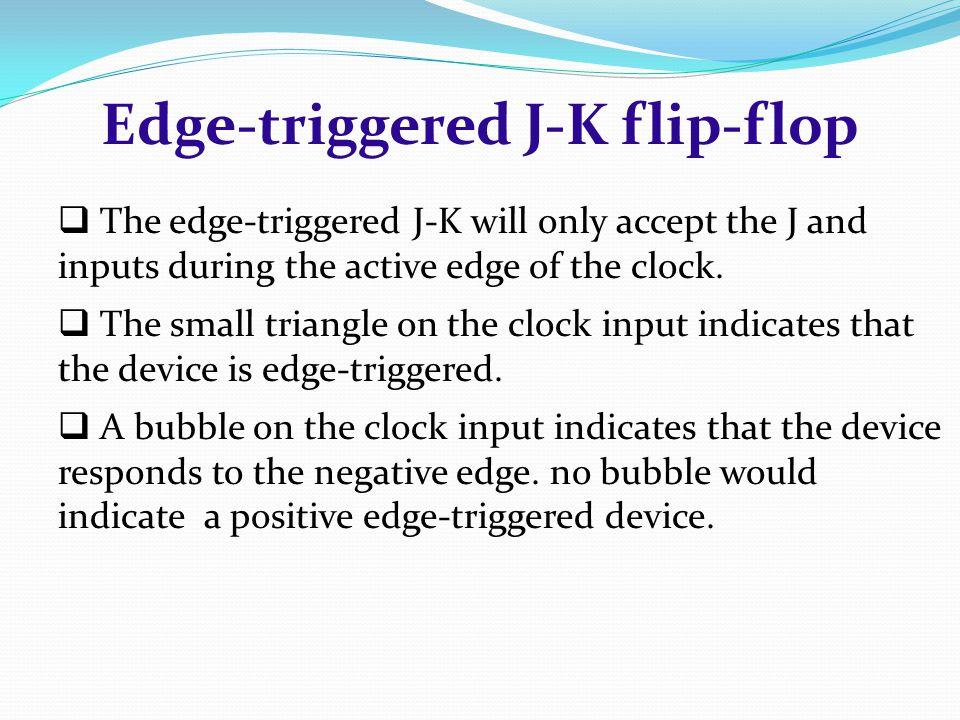 Edge-triggered J-K flip-flop