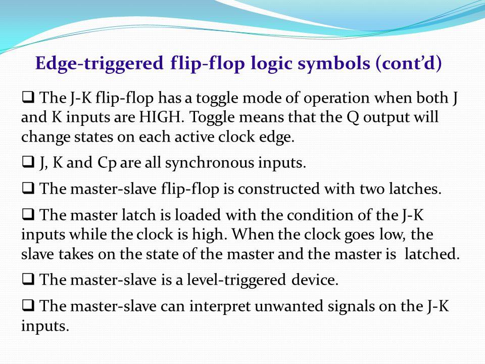Edge-triggered flip-flop logic symbols (cont'd)