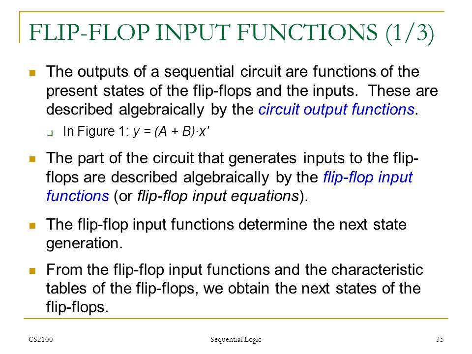 FLIP-FLOP INPUT FUNCTIONS (1/3)