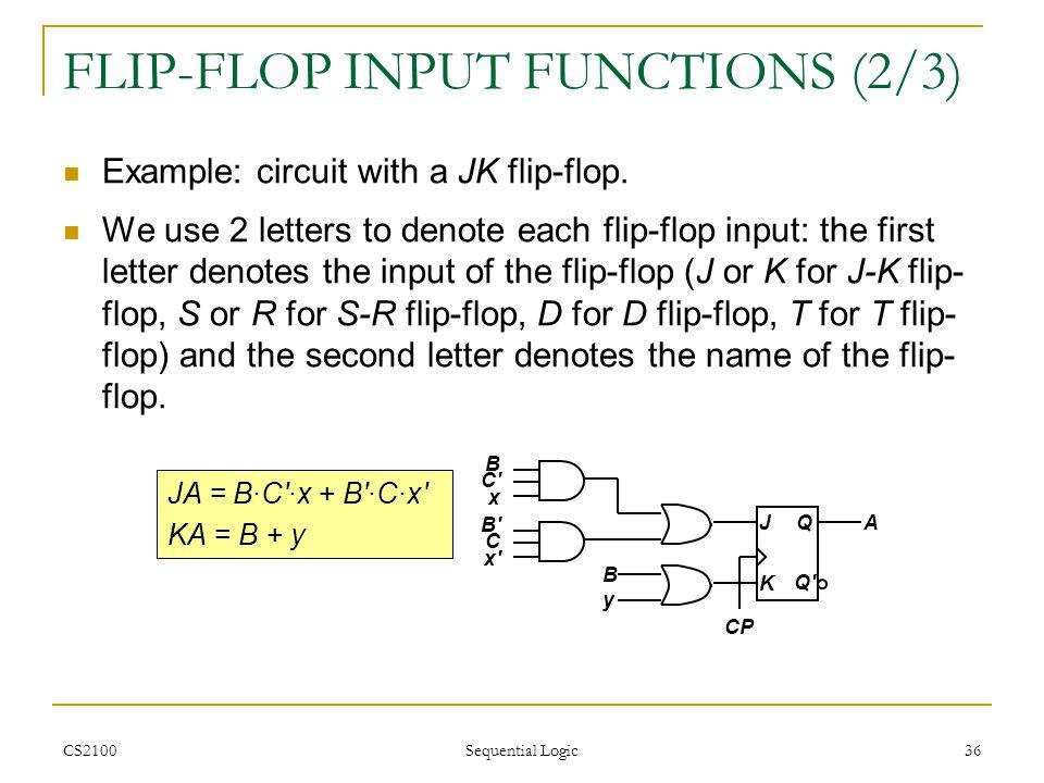 FLIP-FLOP INPUT FUNCTIONS (2/3)