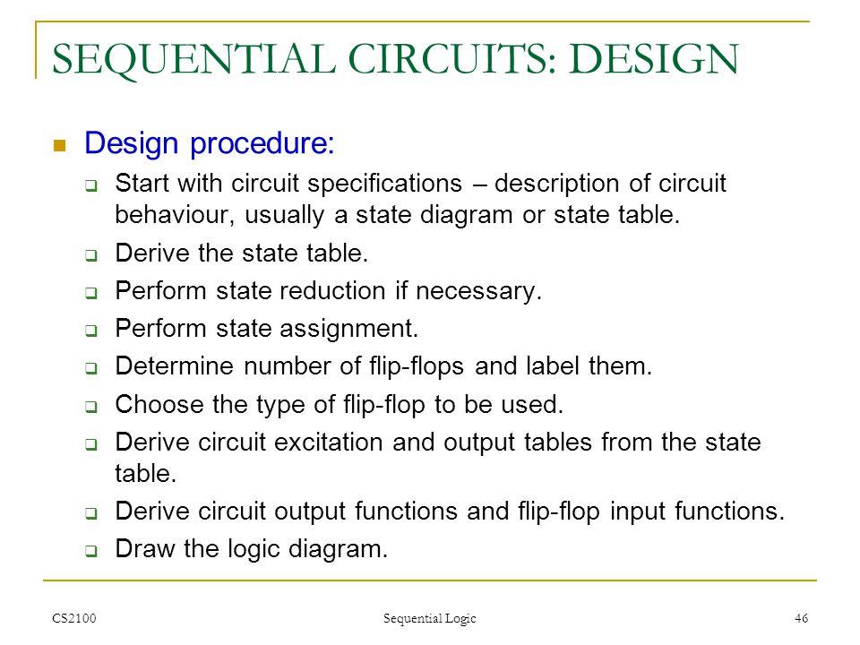 SEQUENTIAL CIRCUITS: DESIGN