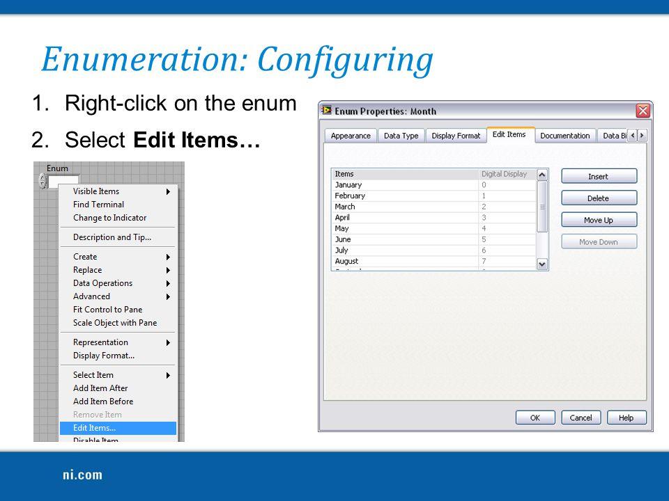 Enumeration: Configuring