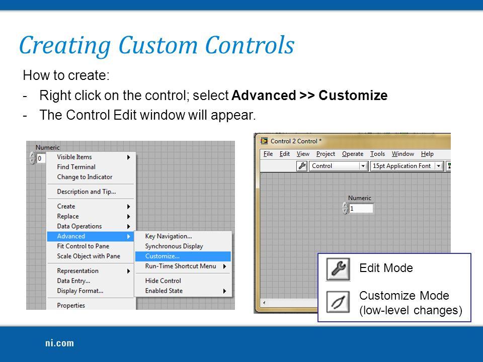 Creating Custom Controls
