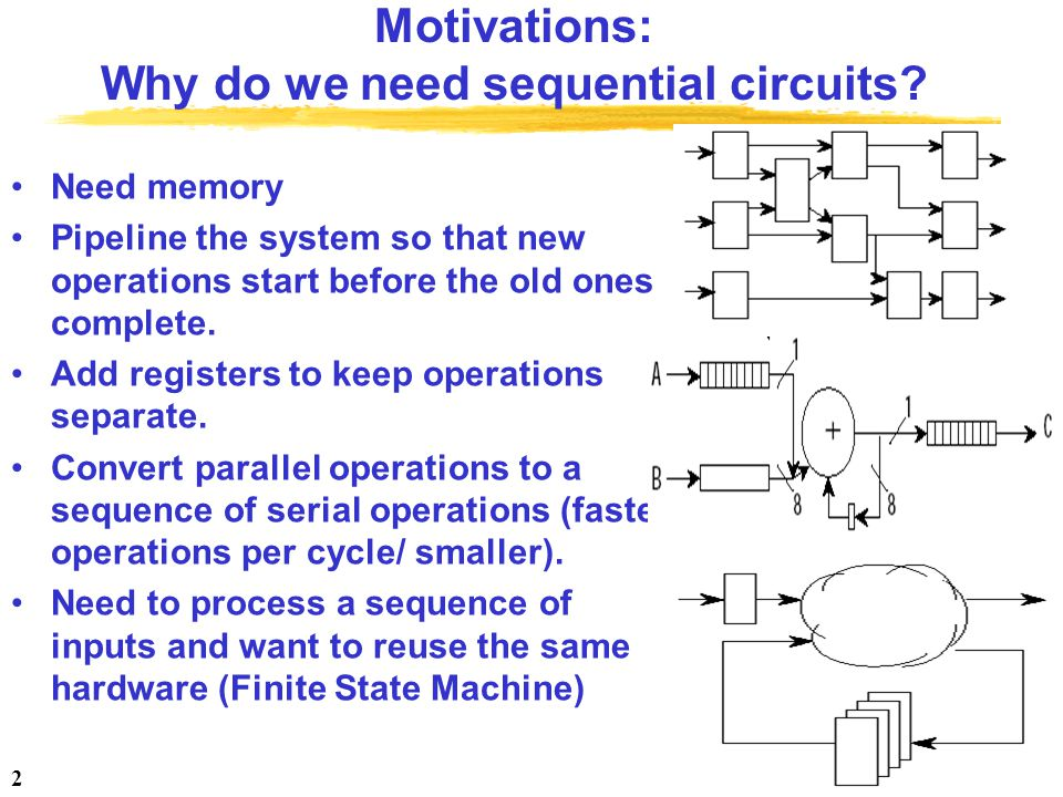 Motivations: Why do we need sequential circuits
