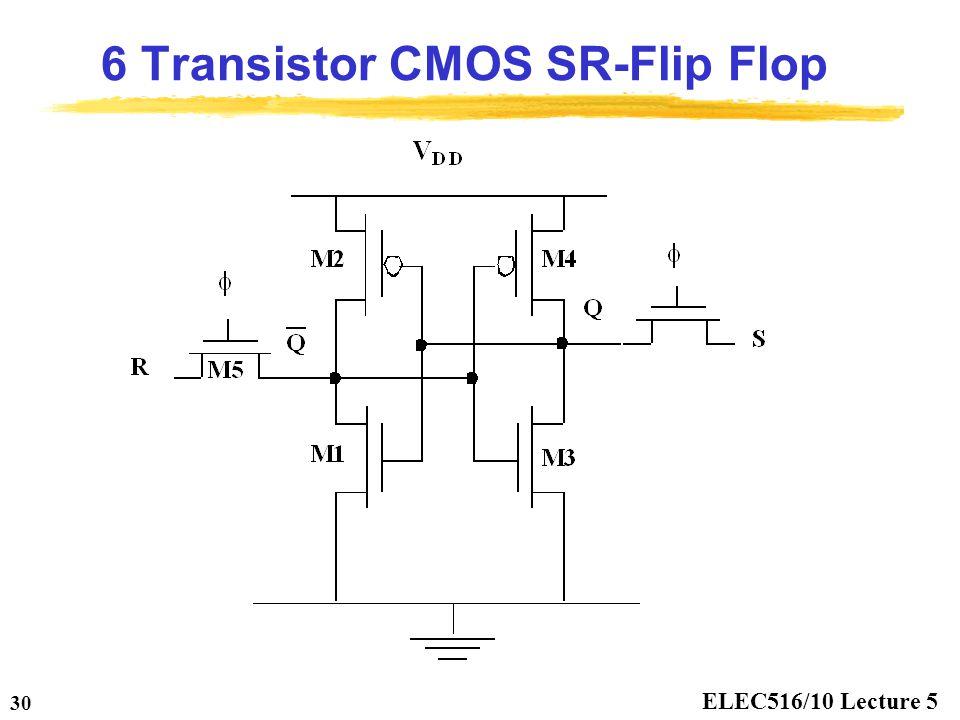 6 Transistor CMOS SR-Flip Flop