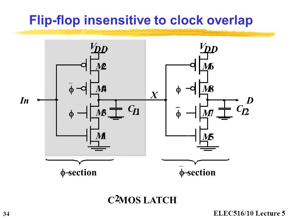 Flip-flop insensitive to clock overlap
