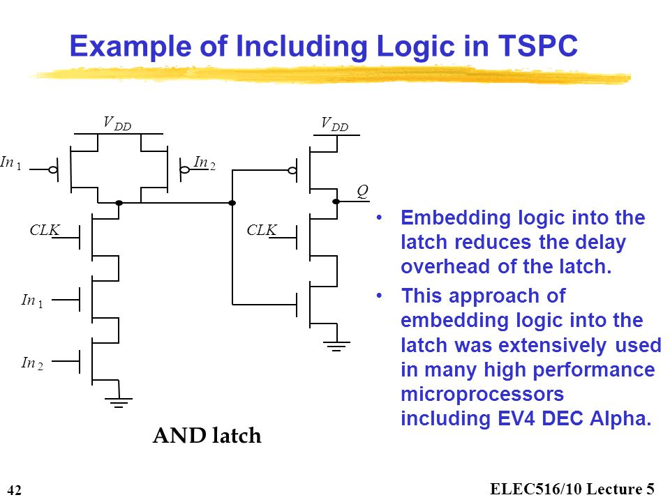 Example of Including Logic in TSPC