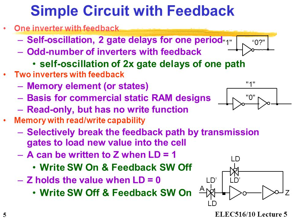 Simple Circuit with Feedback